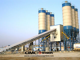Belt type concrete batch mix plant