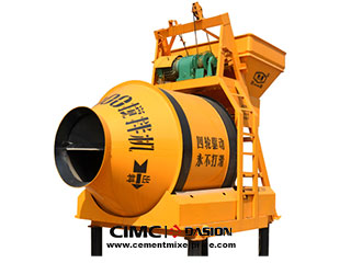 Electrical drum concrete mixer