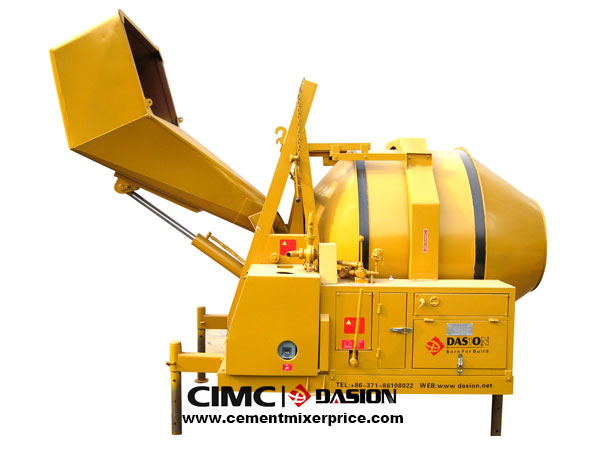 Diesel-engine concrete mixer