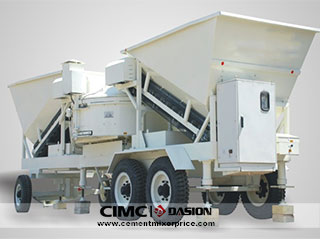 Mini mobile concrete batching mixing plant