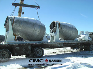 Stainless steel cement mixer drum