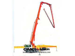 Stationary boom concrete pumps